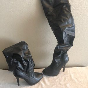 Sexy over the knee high heeled boots